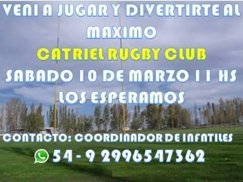"""Catriel25Noticias.com 28870205_190977158181195_4789368248527224832_n Vuelve la temporada de """"Mini-Rugby"""" en el CRC DEPORTES"""