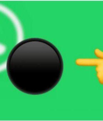 Whatsapp Boton Negro