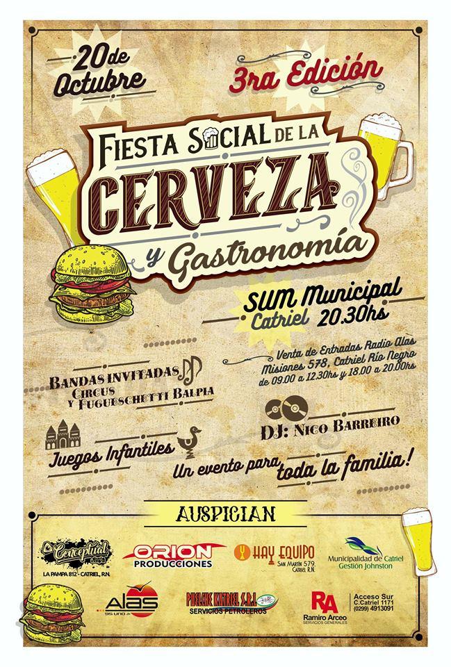 """Catriel25Noticias.com cerveza-fiesta-banner Catriel. Presentaron la """"Fiesta social de la cerveza y gastronomía"""" Destacadas LOCALES NOTICIAS"""