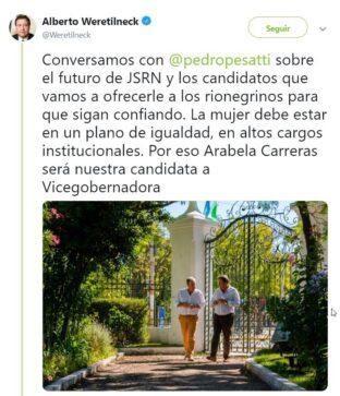 Catriel25Noticias.com screenshot_20190201_193349-312x363 Arabela Carreras candidata a vicegobernadora por Juntos Somos Rio Negro Destacadas PROVINCIALES