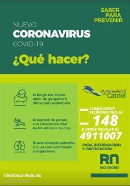 coronavirus telefonos catriel - Catriel25Noticias.com