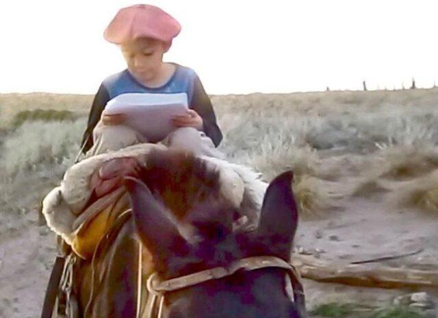 chico a caballo