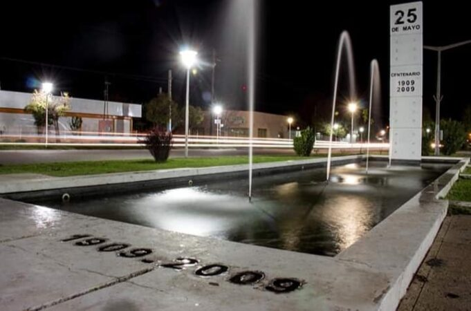 25 de mayo fuente noche