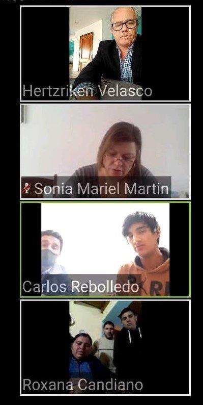 agustina teleconferencia 2 - Catriel25Noticias.com