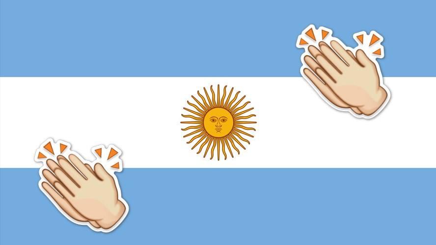 bandera aplausos - Catriel25Noticias.com