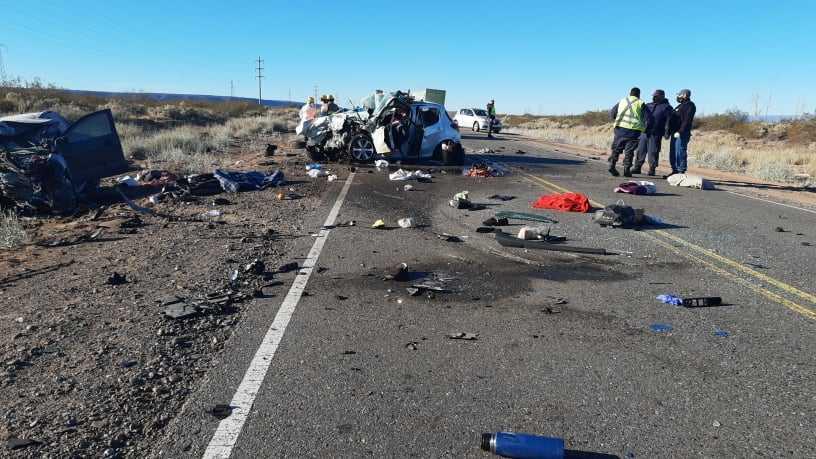 Choque frontal en ruta 237. Tres muertos y varios heridos
