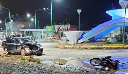 Catriel: Motociclista herido en accidente de tránsito