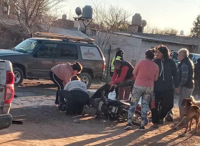 Catriel: dos adolescentes heridas en accidente de tránsito