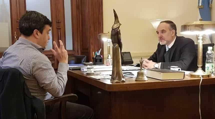 Por obras para Catriel, el pte del Deliberante realizó gestiones ante senador nacional